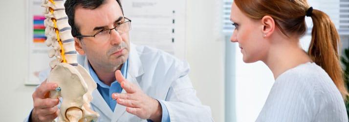 Chiropractic Wilmington DE Doctor Explaining Spine